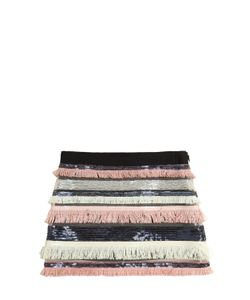 MILLY MINIS | Sequins Fringe Stretch Tulle Skirt