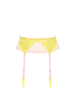 Mimi Holliday | Two Tone Nylon Lace Wide Suspender