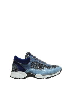 MIMISOL | Tweed Patent Leather Running Sneakers