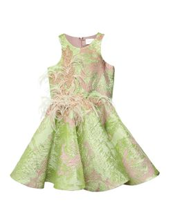 MISCHKA AOKI | Swarovski Embellished Silk Brocade Dress