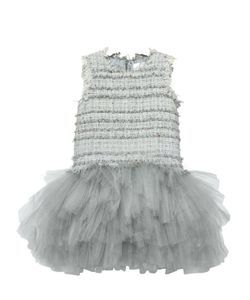 MISCHKA AOKI | Tweed Soft Stretch Tulle Party Dress
