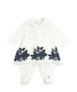 Miss Blumarine | Embroidered Cotton Organza Romper