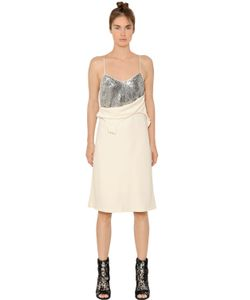 MM6 by Maison Margiela | Fluid Dress With Sequined Panels