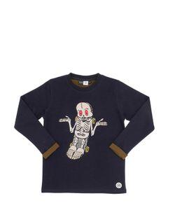 Molo | Skelton Doubled Cotton Jersey T-Shirt