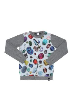 Molo | Jewels Printed Satin Knit Cardigan