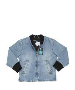 Molo | Han Light Cotton Denim Bomber Jacket