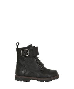 Momino | Drummed Leather Boots