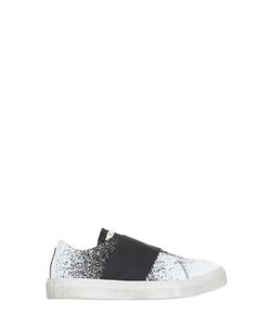 Momino | Painted Cotton Canvas Slip-On Sneakers
