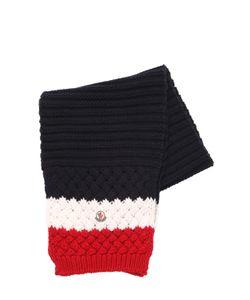 Moncler | Wool Tricot Rib Knit Scarf