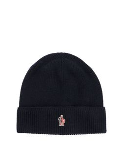 Moncler Grenoble | Logo Patch Wool Beanie Hat