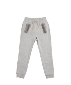 MONNALISA FUN | Embellished Cotton Jogging Pants