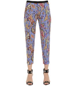 Monocrom | Printed Silk Cady Pants