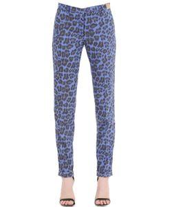 Monocrom   Leopard Printed Cotton Poplin Pants