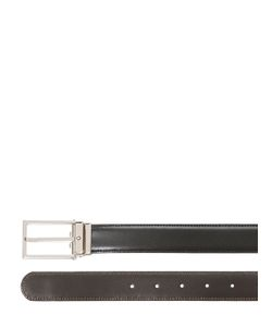 Mont Blanc | Reversible Square Leather Belt