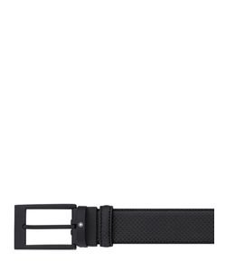 Mont Blanc | Square Laser-Cut Leather Belt