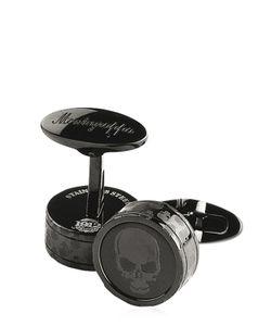 MONTEGRAPPA | Skull Stainless Steel Cufflinks