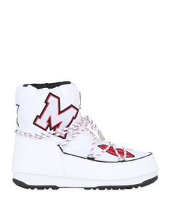 MOON BOOT MSGM | 30mm Embroidered Nylon Snow Boots