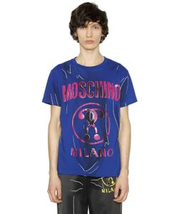 Moschino | Shadow Printed Cotton Jersey T-Shirt