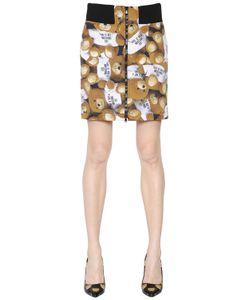 Moschino | Teddy Bear Printed Techno Faille Skirt