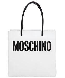 Moschino   Logo Shopping Nappa Leather Tote