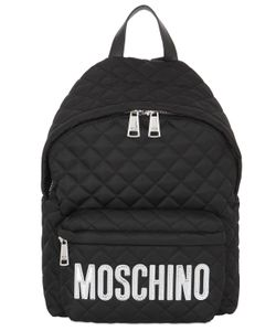 Moschino | Large Logo Quilted Nylon Backpack