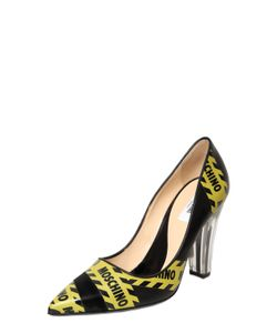 Moschino | 100mm Caution Printed Leather Pumps