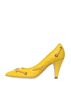 Moschino | 80mm Chained Quilted Leather Pumps