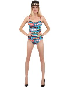 MOSCHINO BEACHWEAR | Signs Microfiber One Piece Swimsuit