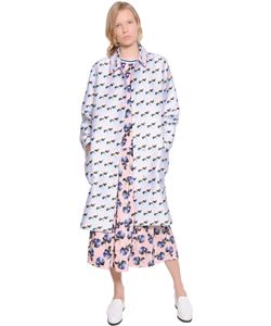 Mother Of Pearl | Floral Printed Cotton Silk Coat