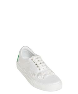 Mother Of Pearl | Embellished Techno Satin Sneakers