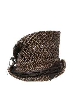 Move | Asymmetrical Woven Straw Top Hat