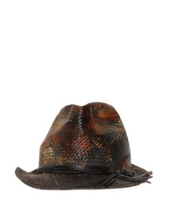 Move | Vintage Effect Printed Straw Hat