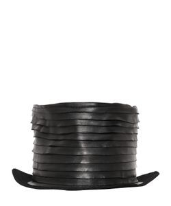 Move | Layered Leather On Lapin Felt Top Hat