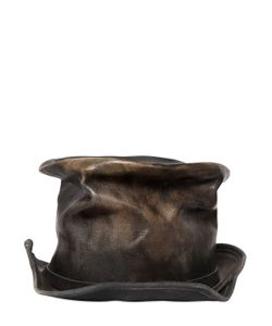 Move | Vintage Effect Leather Top Hat