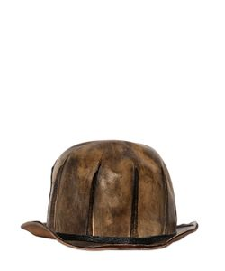 Move | Vintage Effect Leather Bowler Hat