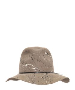 Move | Splatter Painted Wool Felt Hat