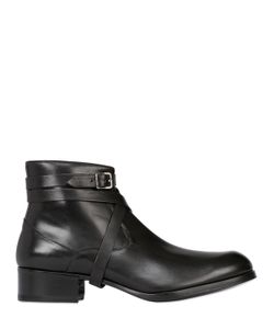 MR HARE | Leather Ankle Boots W/ Wrap Around Strap