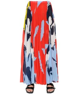 Mrz | Printed Pleated Techno Chiffon Skirt