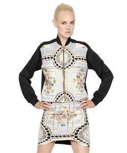 NATARGEORGIOU | Cotton Crochet Neoprene Bomber Jacket