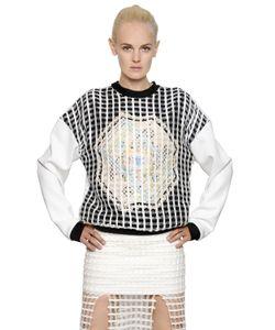 NATARGEORGIOU | Cotton Crochet Neoprene Sweatshirt