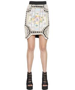 NATARGEORGIOU | Cotton Crochet Neoprene Skirt