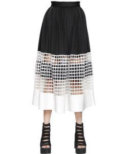 NATARGEORGIOU | Neoprene Cotton Net Skirt