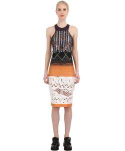 NATARGEORGIOU | Lurex Laser Cut Silk Lace Dress
