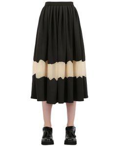 NATARGEORGIOU | Neoprene And Techno Chiffon Skirt