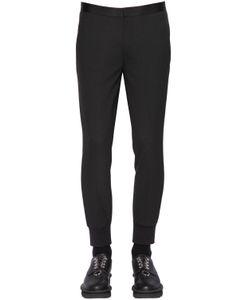 Neil Barrett | Rib Cuffs Wool Blend Gabardine Pants