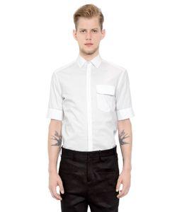 Neil Barrett | Cotton Poplin Short Sleeve Shirt