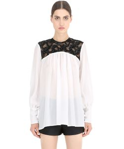 NENA RISTICH | Embellished Silk Tulle Shirt
