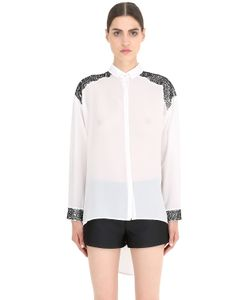 NENA RISTICH | Embellished Silk Shirt With Cutouts