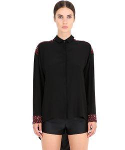 NENA RISTICH | Bead Embellished Silk Shirt