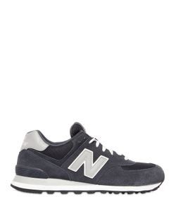 New Balance | 574 Faux Suede Mesh Sneakers